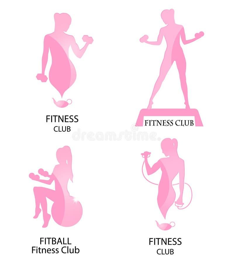 健身俱乐部桃红色象 皇族释放例证