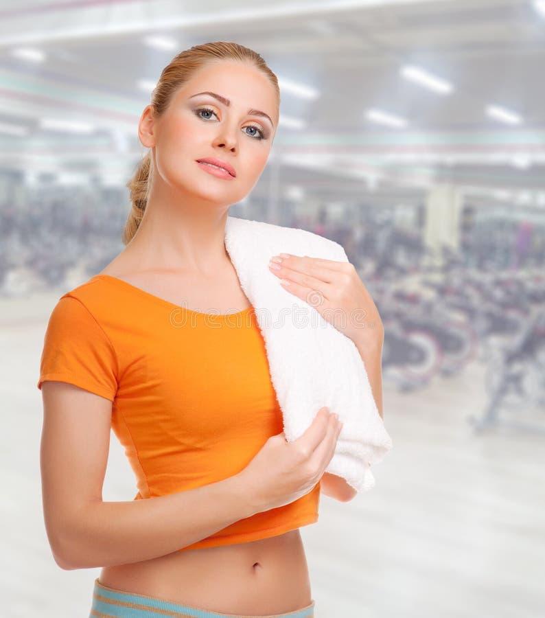 健身俱乐部的女孩 库存图片