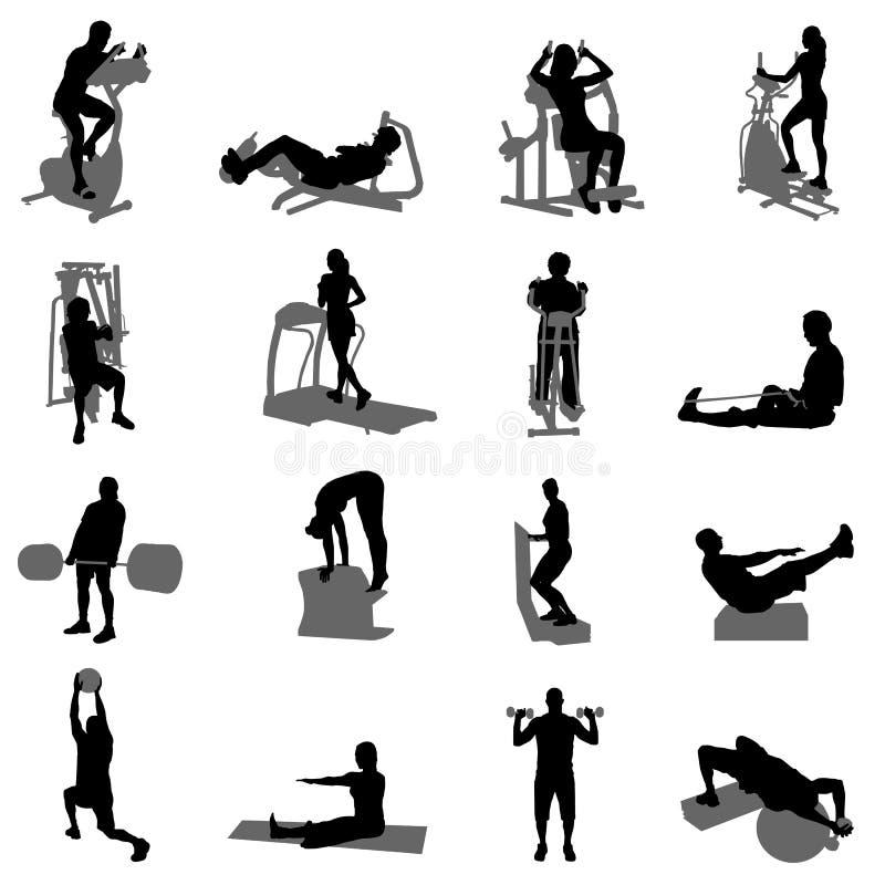 健身向量 向量例证