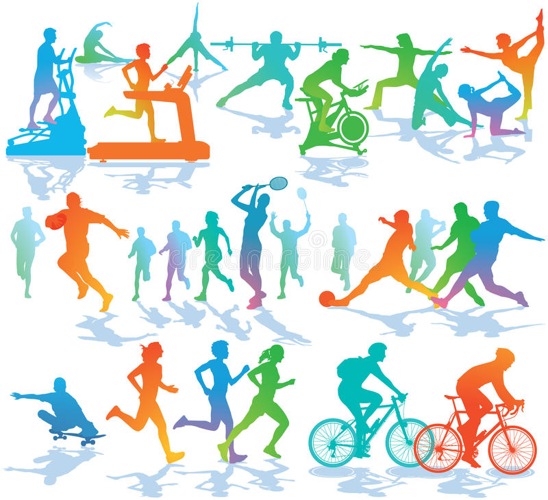 健身和体育例证 库存例证