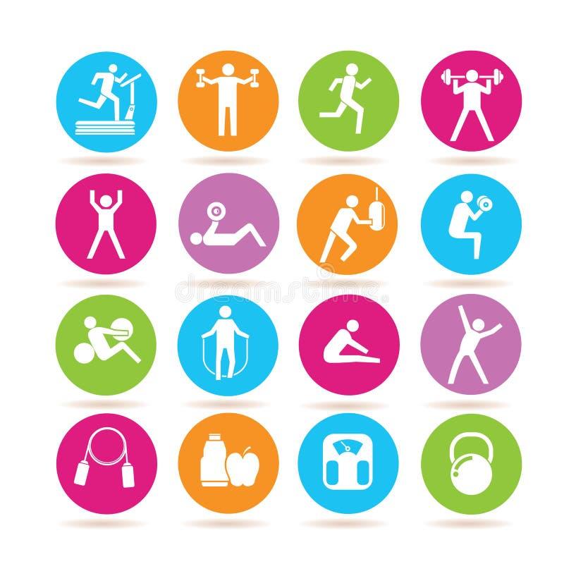 健身和健身房象 库存例证