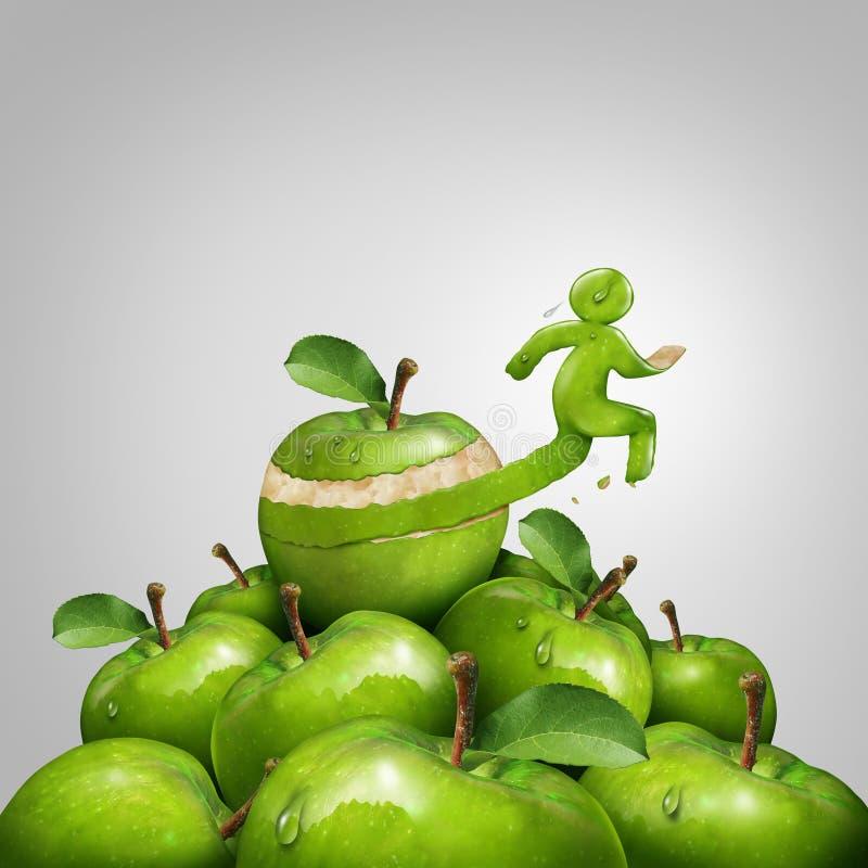 健身和减重概念 向量例证
