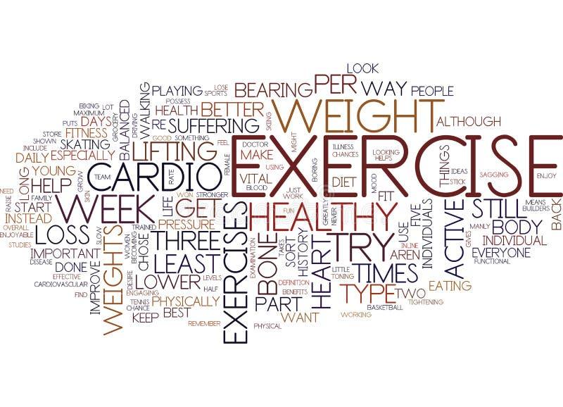 健身和您关于健康词云彩概念 向量例证