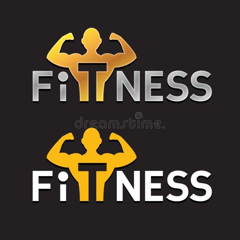 健身商标 向量例证