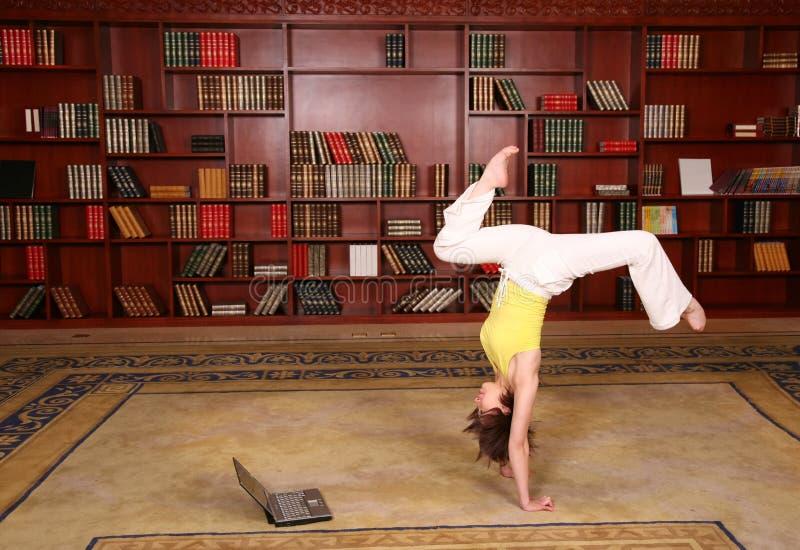 健身图书馆 库存照片