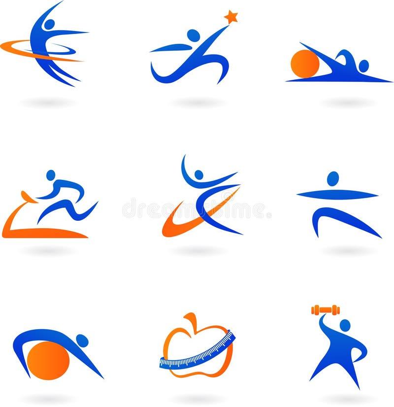 健身图标- 2 免版税库存照片