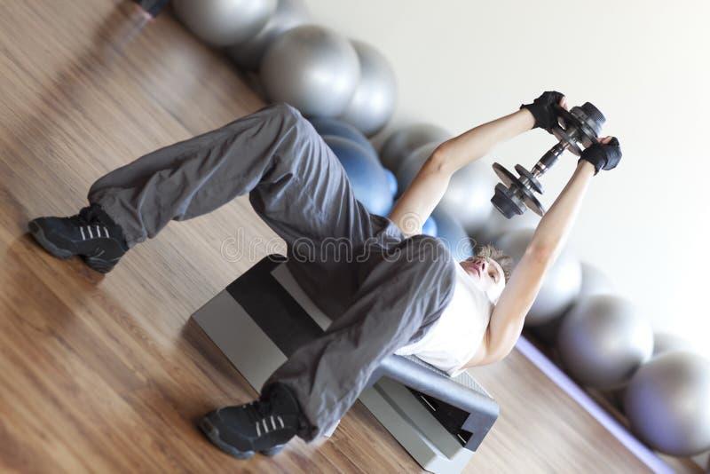 健身增强的程序重量 免版税库存照片
