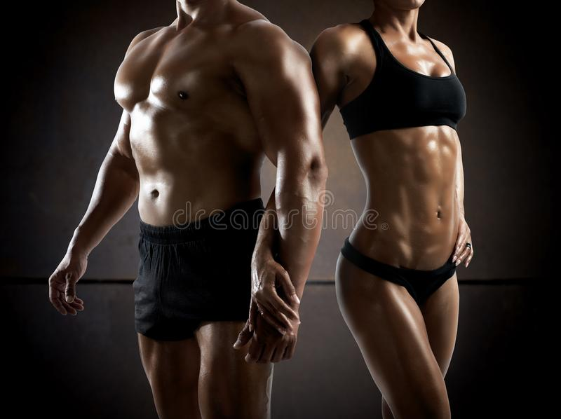 健身夫妇 免版税库存图片