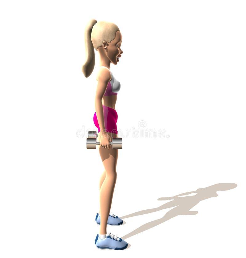 健身女孩: 肩膀