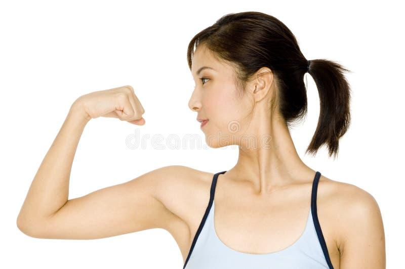 健身女孩 免版税库存照片