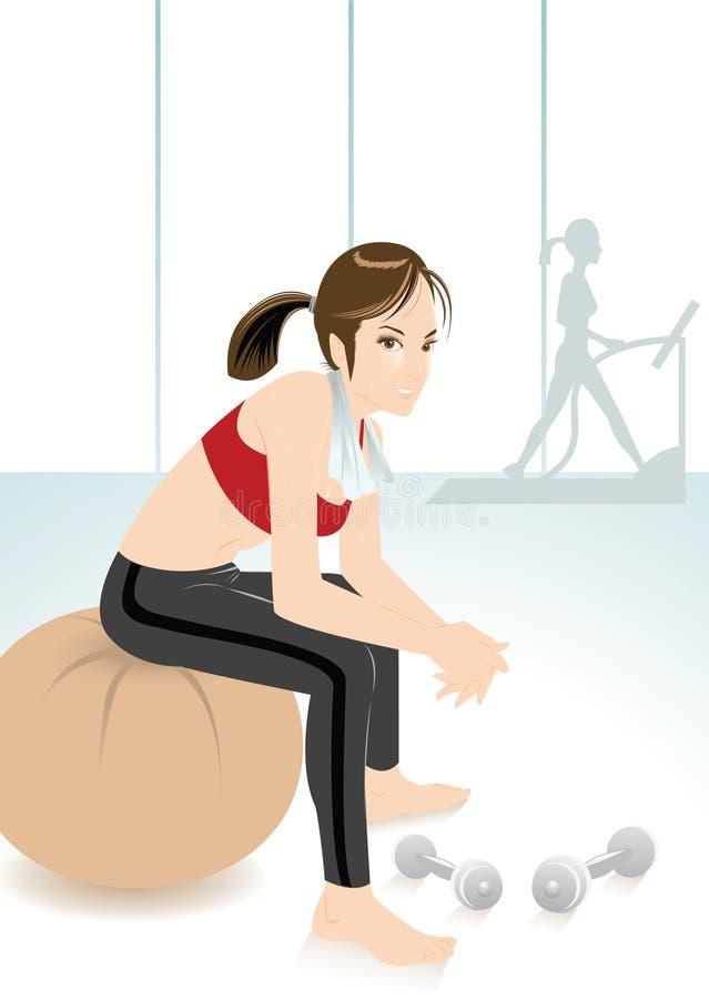 健身女孩 向量例证