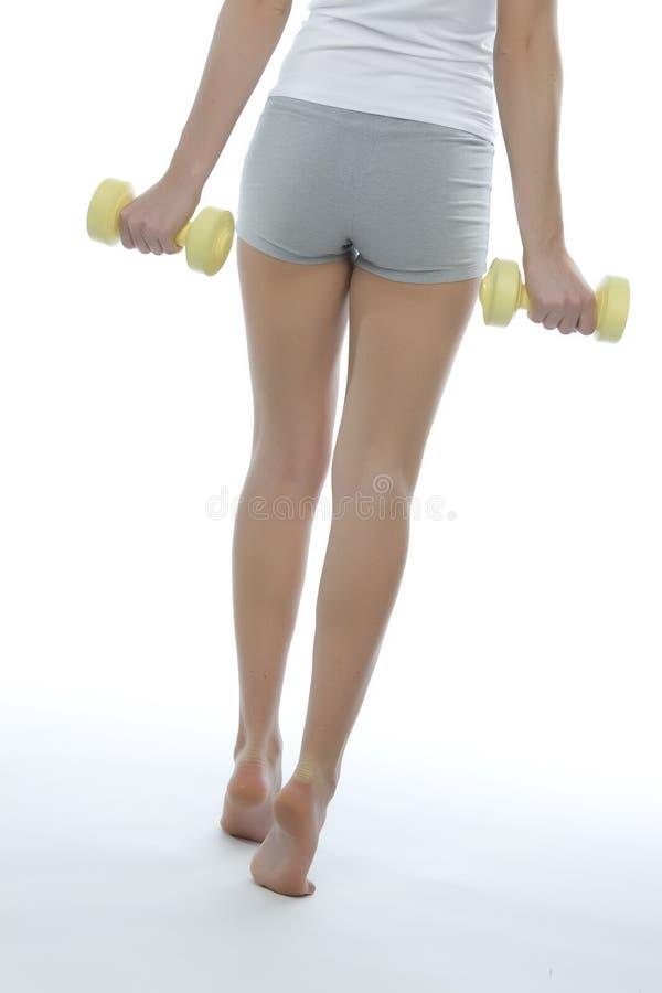 健身女孩 免版税库存图片