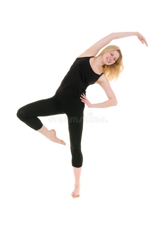 健身妇女锻炼年轻人 免版税库存图片