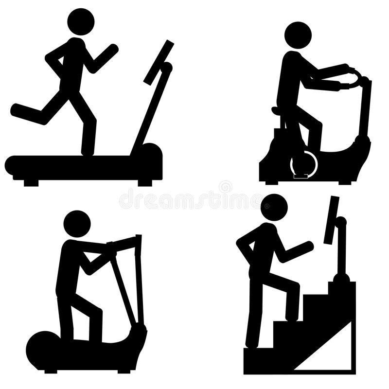 健身房体育 库存例证