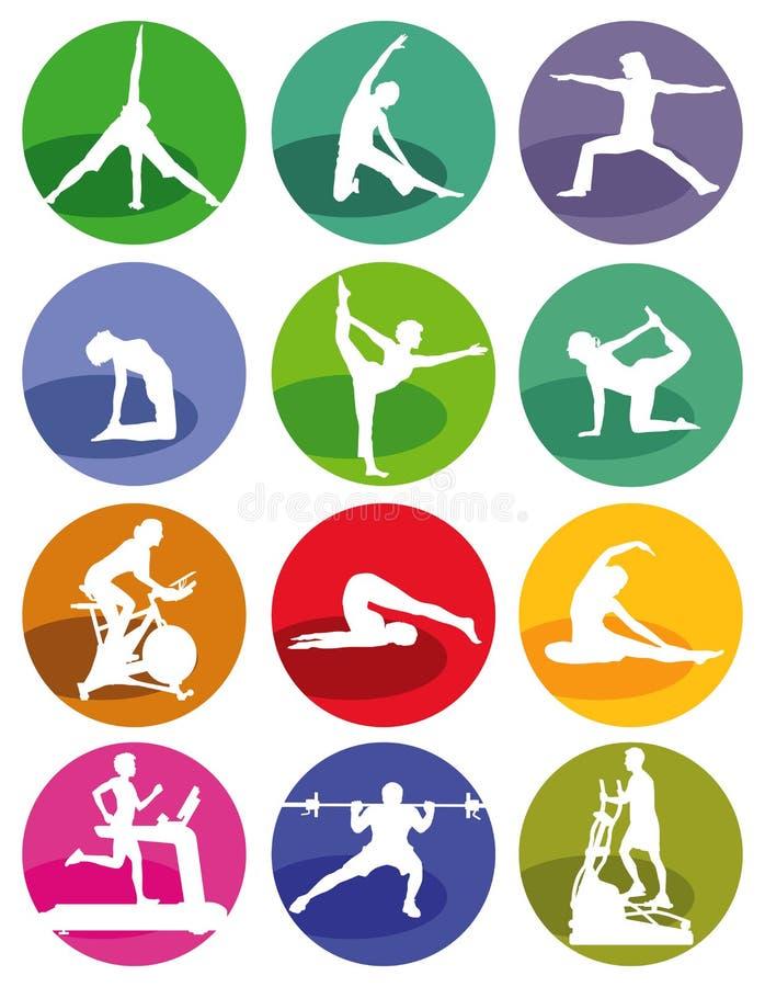 健身房和健身形象 库存例证