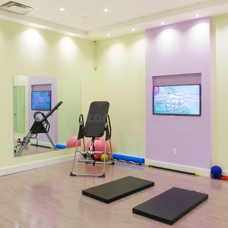健身房室内设计 图库摄影