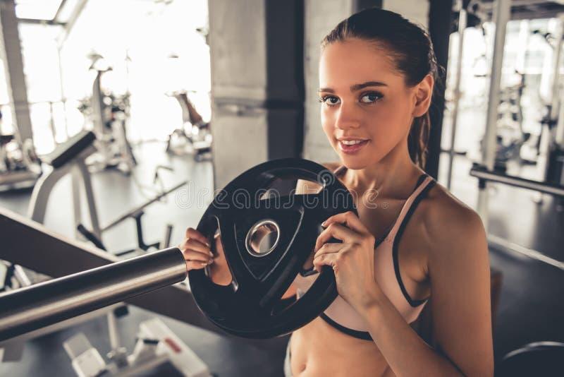 健身房的妇女 库存照片