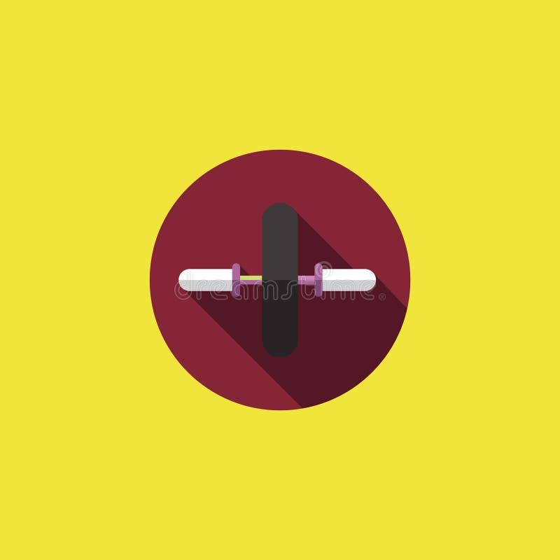 健身房轮子象传染媒介例证 免版税库存照片