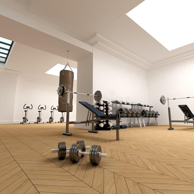 健身房 向量例证