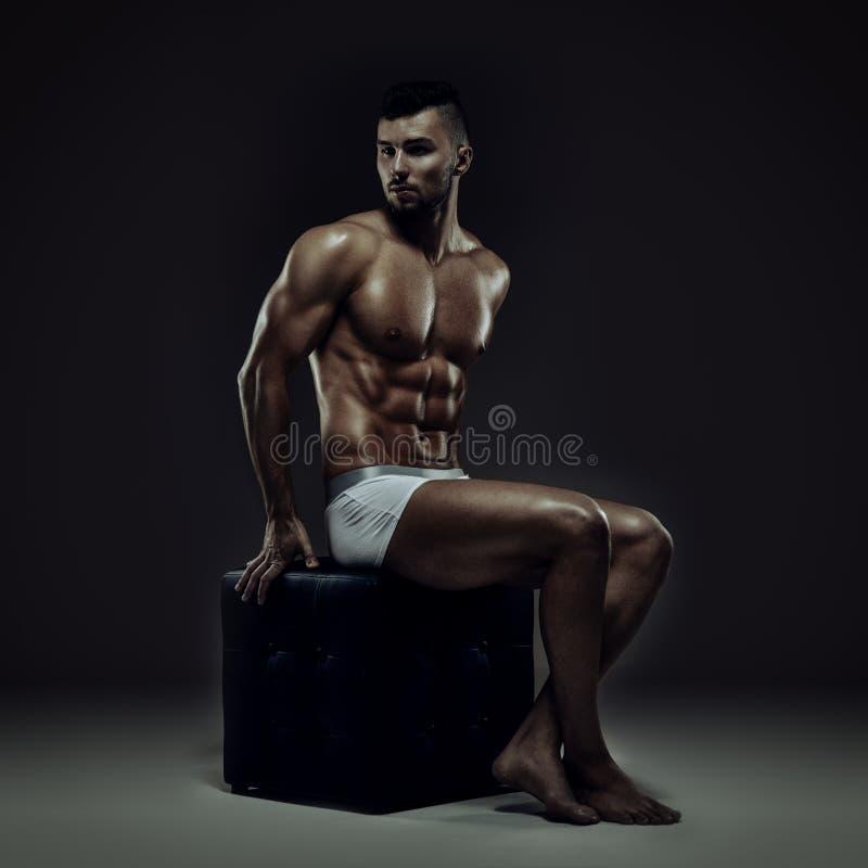 健身模型 免版税图库摄影