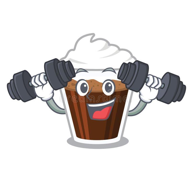 健身爱尔兰coffe隔绝与动画片 向量例证