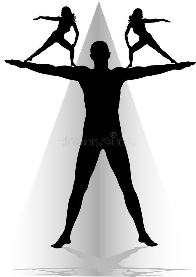 健身瑜伽 向量例证