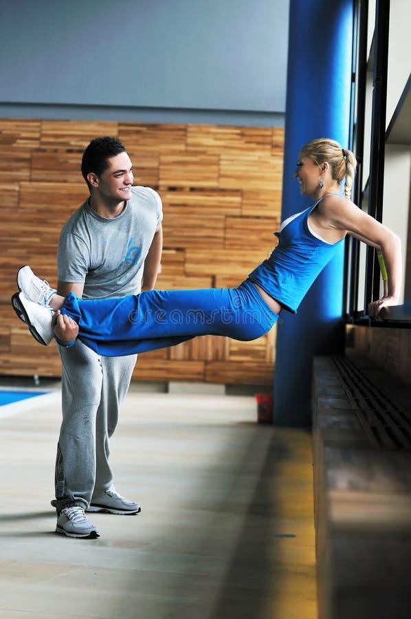 健身私有培训人 库存图片