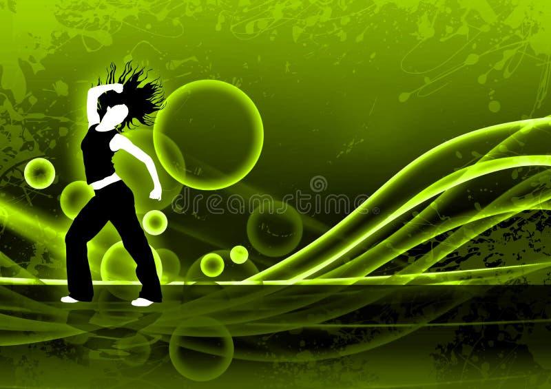 健身舞蹈 库存例证