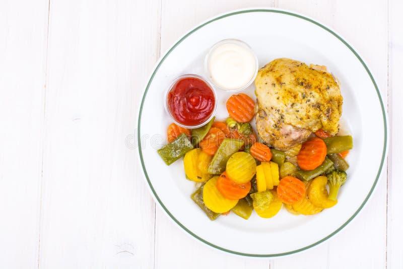 健身菜单 蛋白质和碳水化合物 库存图片