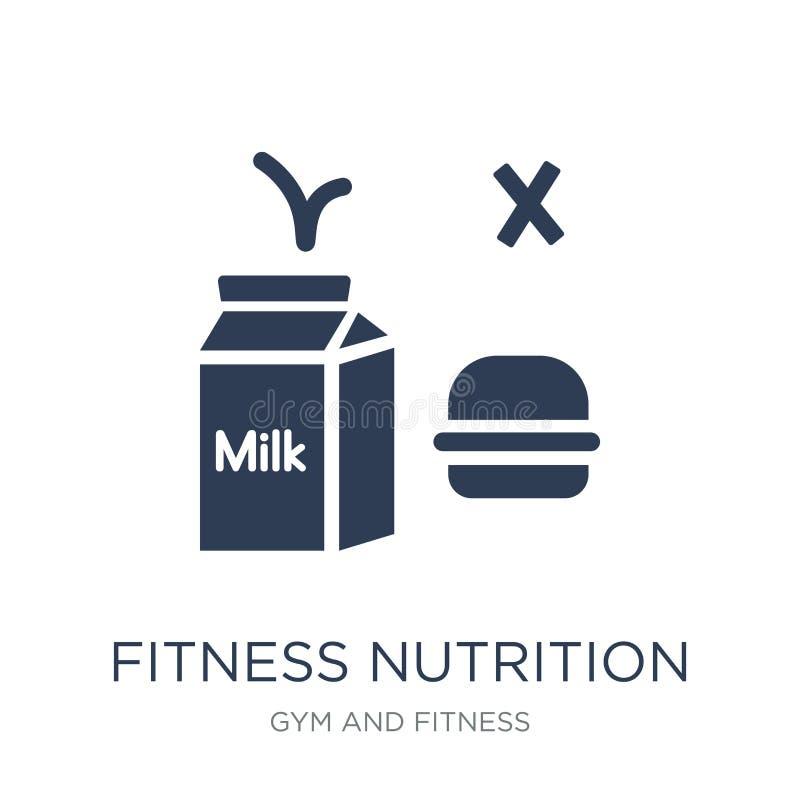 健身营养象 时髦平的传染媒介健身营养ico 库存例证
