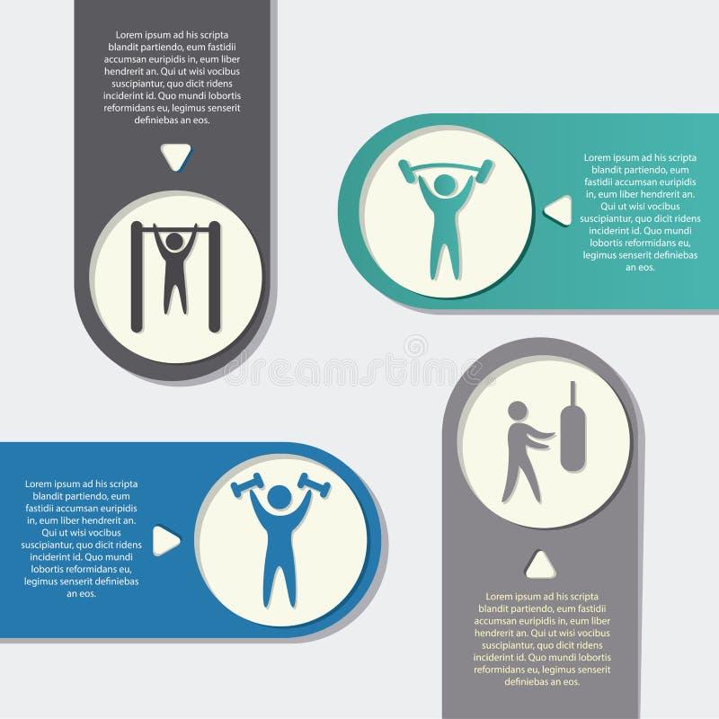 健身设计 库存例证