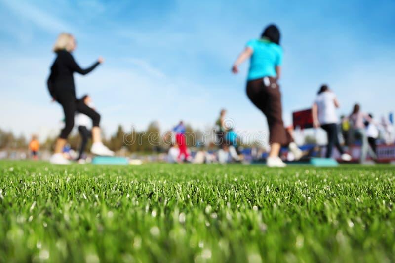健身质量体育场 免版税库存照片