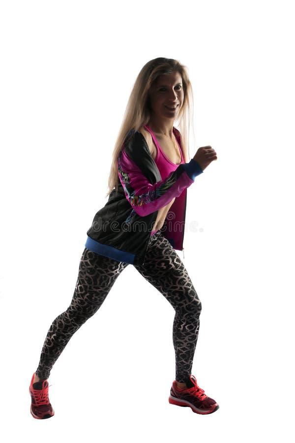 健身锻炼女孩 免版税库存照片