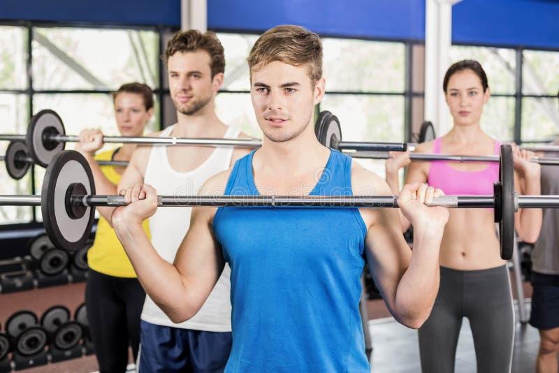 健身类举的杠铃 免版税库存照片