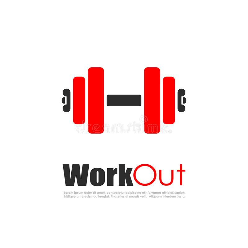健身锻炼传染媒介商标 向量例证