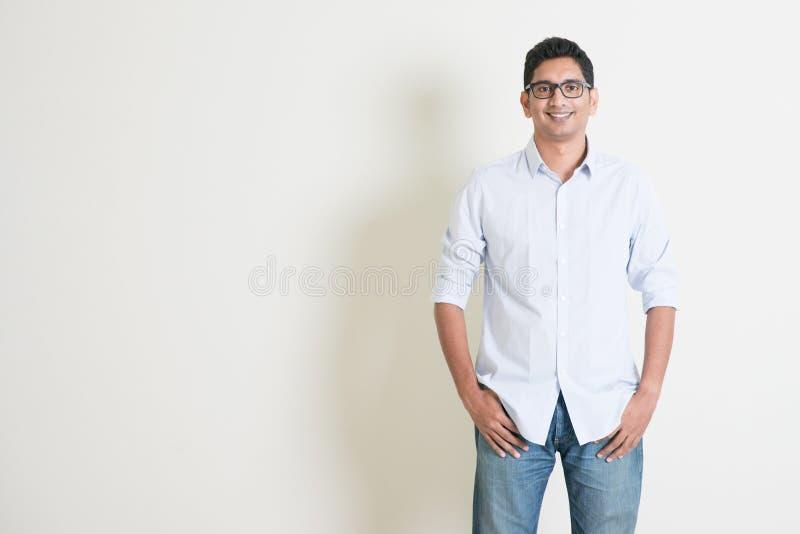 偶然企业印地安男性画象 免版税图库摄影