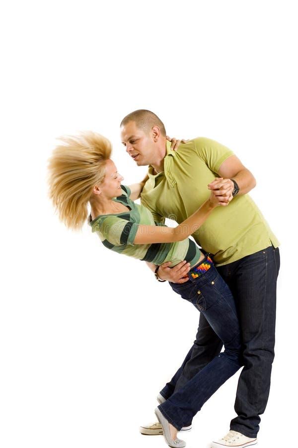 偶然夫妇跳舞年轻人 库存图片