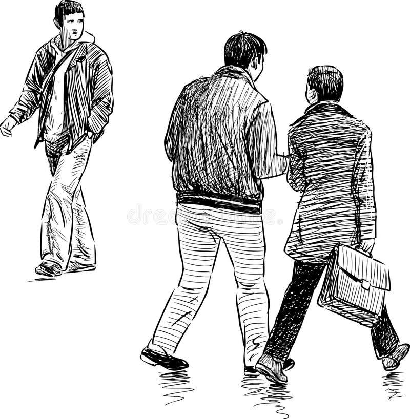 偶然步行者 向量例证