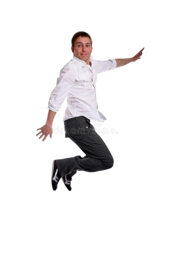 偶然跳的人年轻人 免版税库存照片