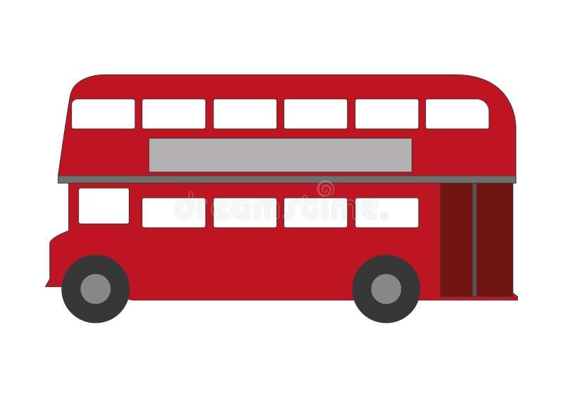 偶象伦敦doublde甲板公共汽车 皇族释放例证