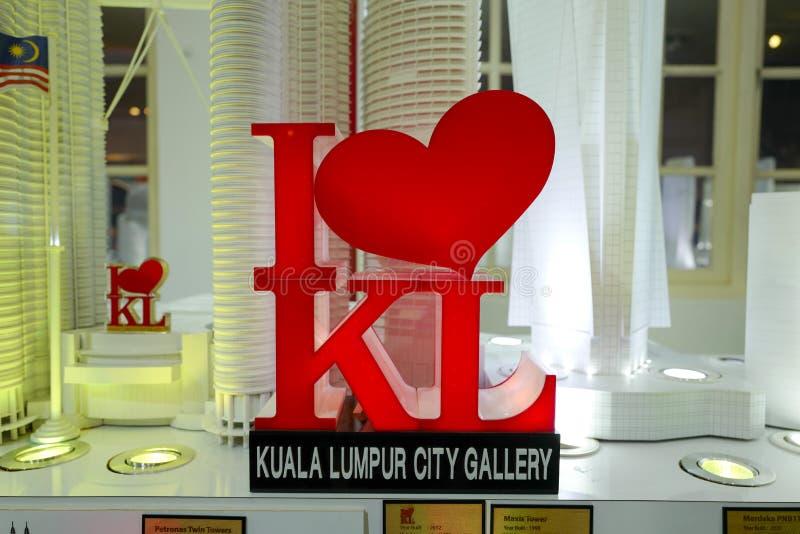 偶象我爱KL结构,创造充满城市的激情 免版税库存图片
