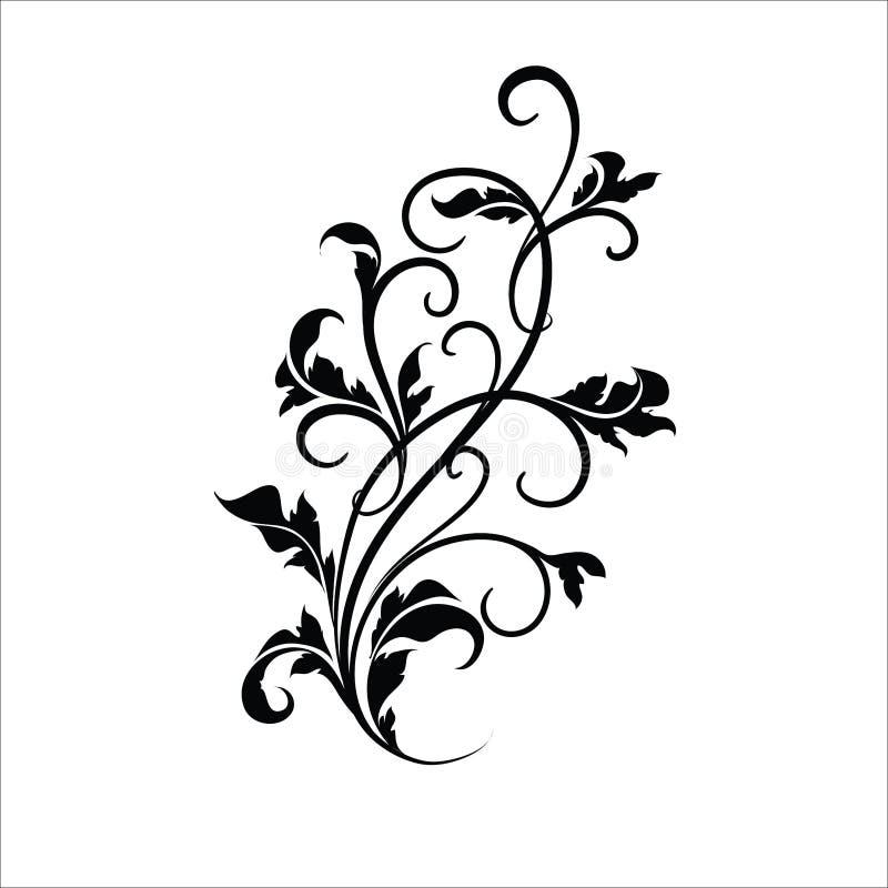 储蓄传染媒介套设计的花卉元素 库存例证