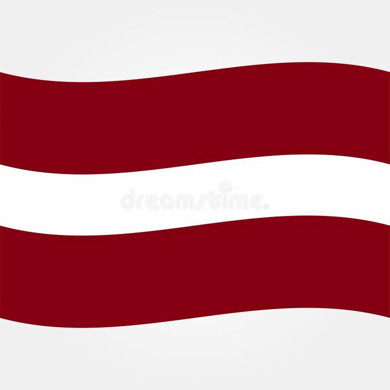 储蓄传染媒介拉脱维亚旗子象2 皇族释放例证