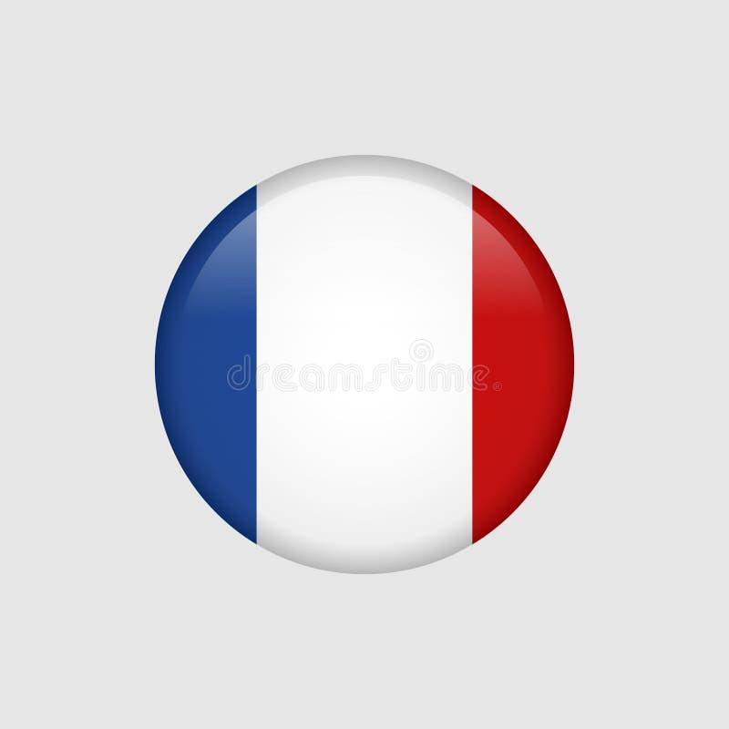 储蓄传染媒介法国旗子5 向量例证