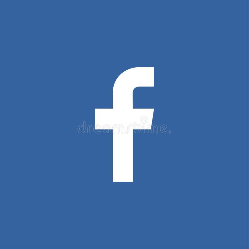 储蓄传染媒介简单的F商标媒介社交 向量例证