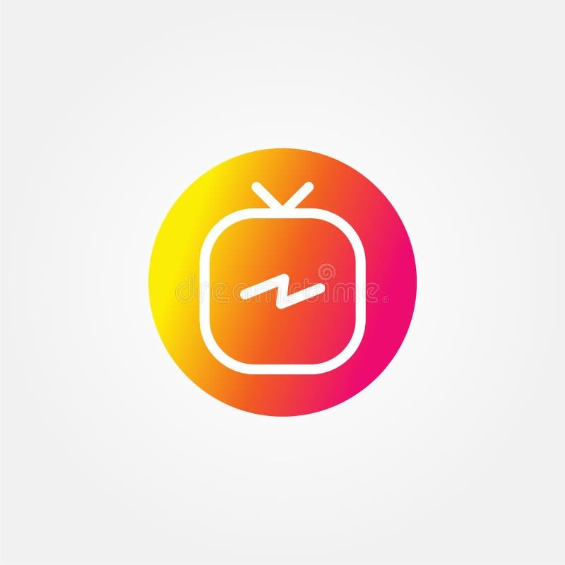 储蓄传染媒介instagram电视商标 库存例证