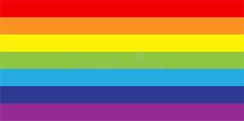 储蓄性少数同性恋者传染媒介的传染媒介彩虹旗子运动lgbt平的象标志 向量例证