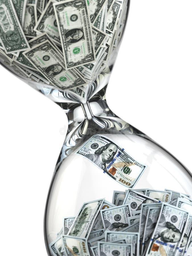 储蓄或投资。美元的成长。滴漏 库存例证