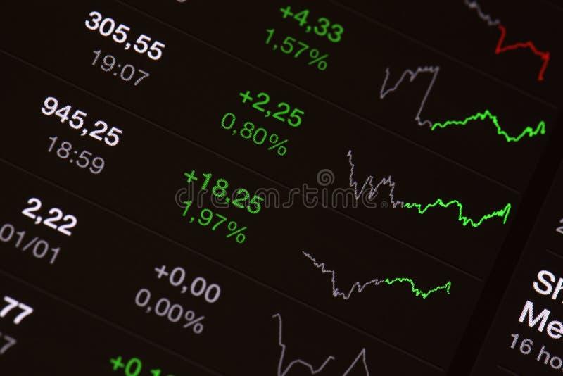 储蓄板-市场成长 免版税库存照片