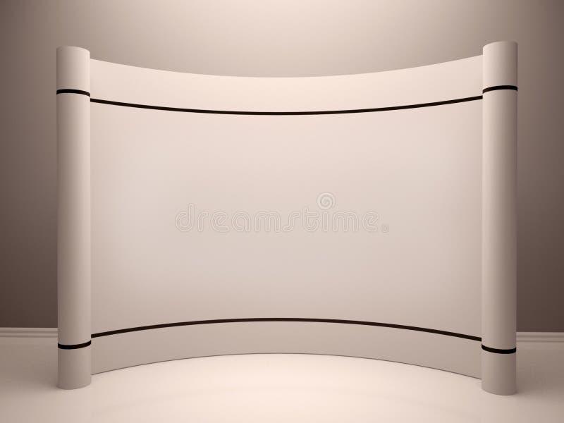 储蓄照片:白色空白的商业展览摊在屋子里 向量例证